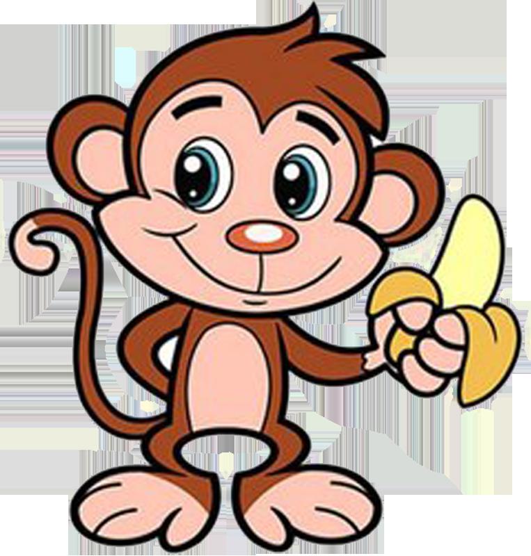 Детский рисунок с обезьяной